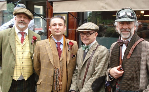 Waxed moustaches and tweed. Worn with style - Courtesy of Velo Vintage