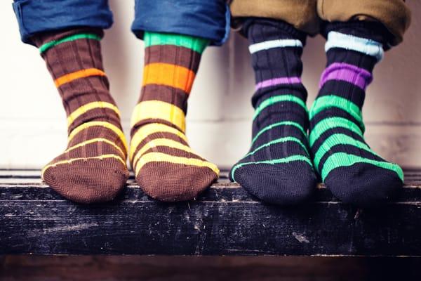 Scott Nichol Colourful Socks