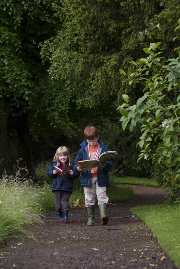 Attracting young readers at the Borders Book Festival 2012.