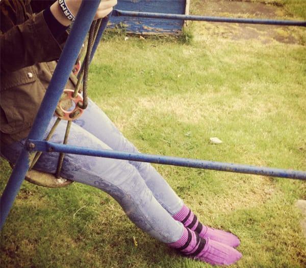 Scott Nichol - Relaxing on the swings