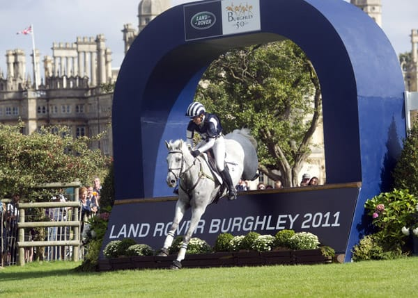 Caroline Powell riding Lenamore, she won Burghley in 2010 - can she do it again? Courtesy Land Rover Burghley Horse Trials/Kit Houghton.
