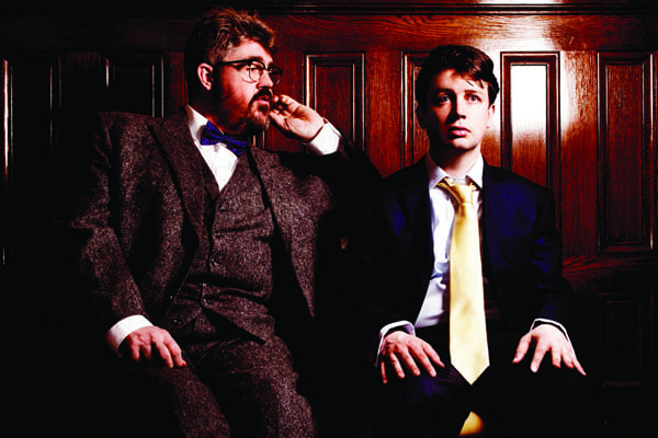 Phill Jupitus as Sir Francis Whitford and Thom Tuck as Matt Cooper. Photo by Idil Sukan.