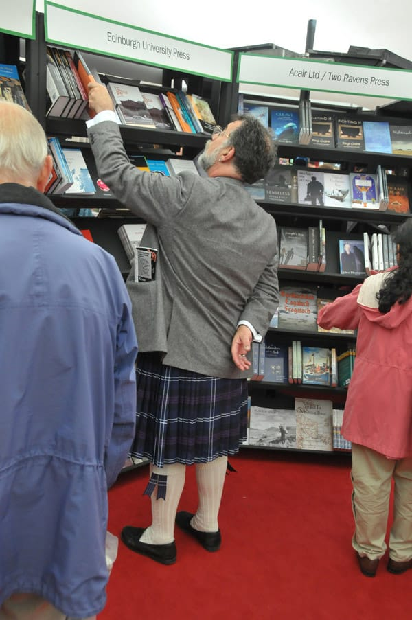 Browsing at the Edinburgh International Book Festival.