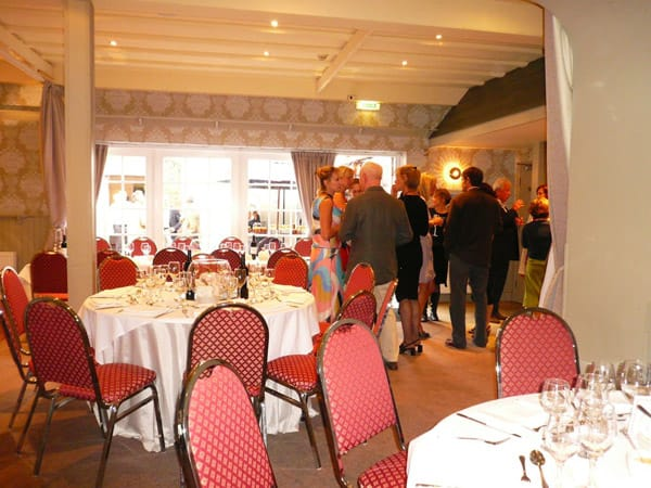 Guests making merry at the Buccleuch Arms Hotel, St Boswell.