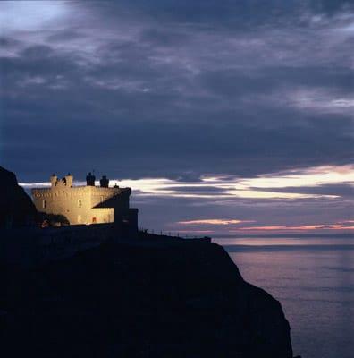 The Lighthouse, Llundudno at sunset, courtesy Steve Thomas.
