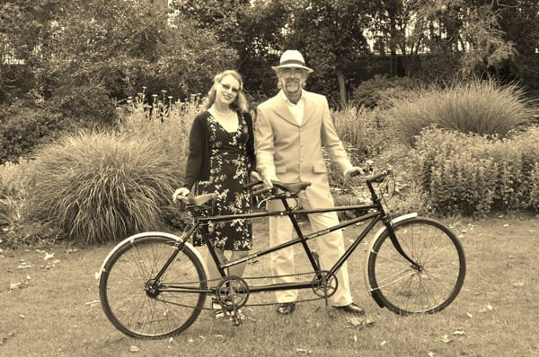 Alistair Cope, of Velo Vintage with Suzie, and Herbert Hercules.