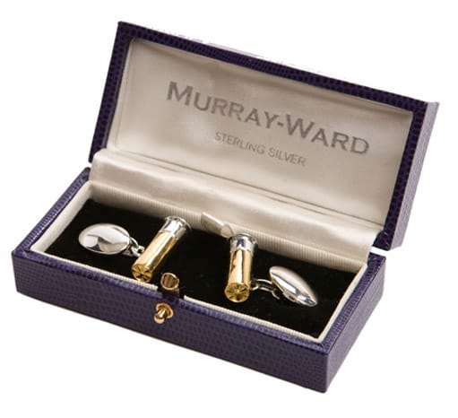 Cartridge Cufflinks by Murray Ward.