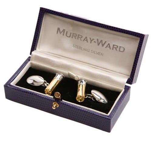 Cartridge Cufflinks by Murray Ward.