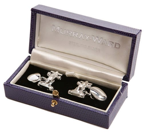 Formula One Racing Cufflinks by Murray and Ward.