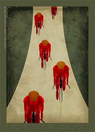 Cycle West - Velo Vintage in Devon poster, courtesy Mark Fairhurst.