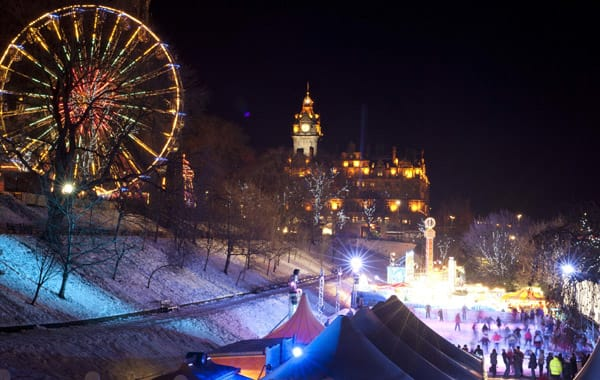 Princes Street, Gardens Edinburgh. Courtesy, Edinburgh's Christmas.