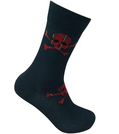 Tartan Skull and Cross bones socks