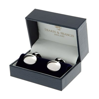 deakin and frances silver dome cufflinks