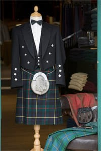 A Hume offers a made to measure service for kilts and tartan trousers, plus all the accessories, and a kilt and formalwear hire service.