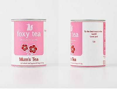 Personalised Tea, by Foxy Tea.