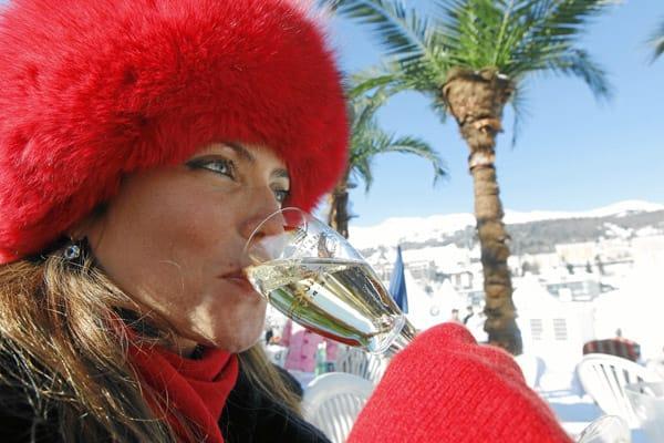 White Turf St. Moritz: Champagner