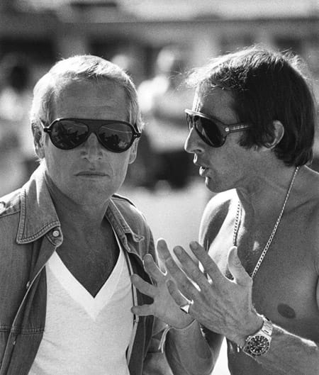 Jackie Stewart and Paul Newman