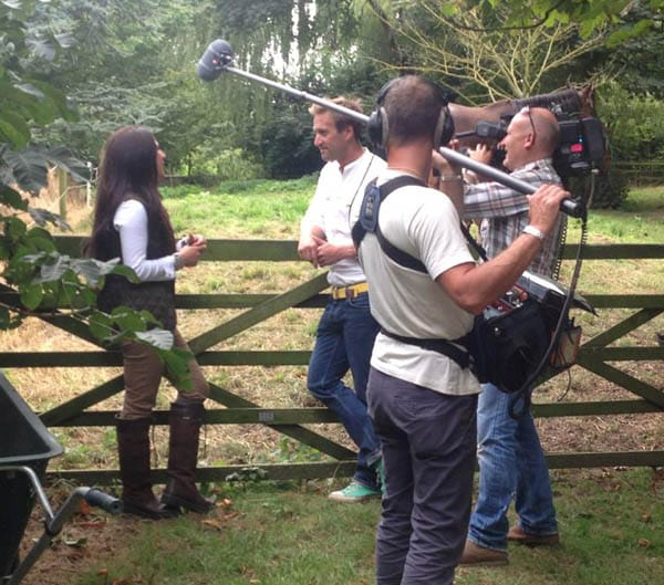amy stevenson and ben fogle filming
