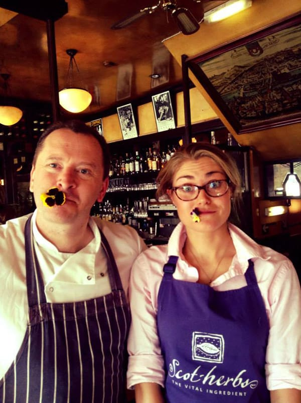 Anna Lamotte with Chef Neil Forbes