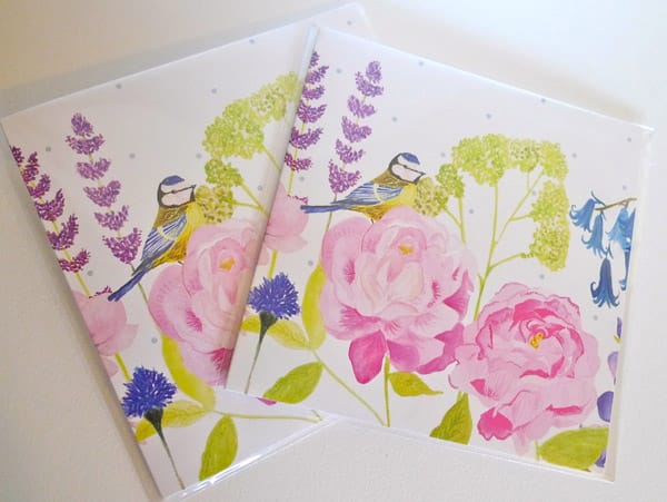 blue tit meadow card