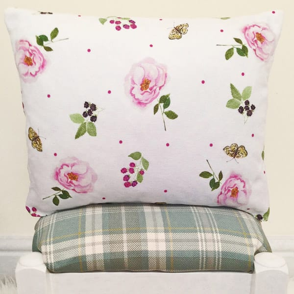 butterflies, brambles and blooms cushion