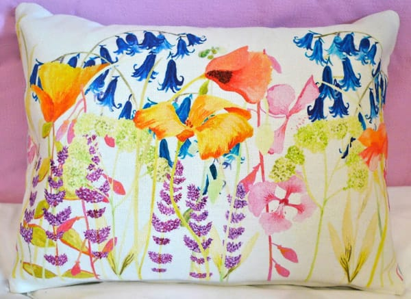 wildflower meadow cushion