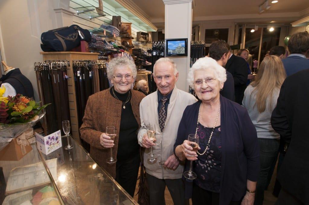 Sybil Henderson, John Brooks and Jeanette Brooks