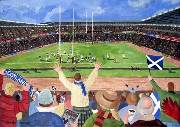 A Try for Scotland Murrayfield Stadium