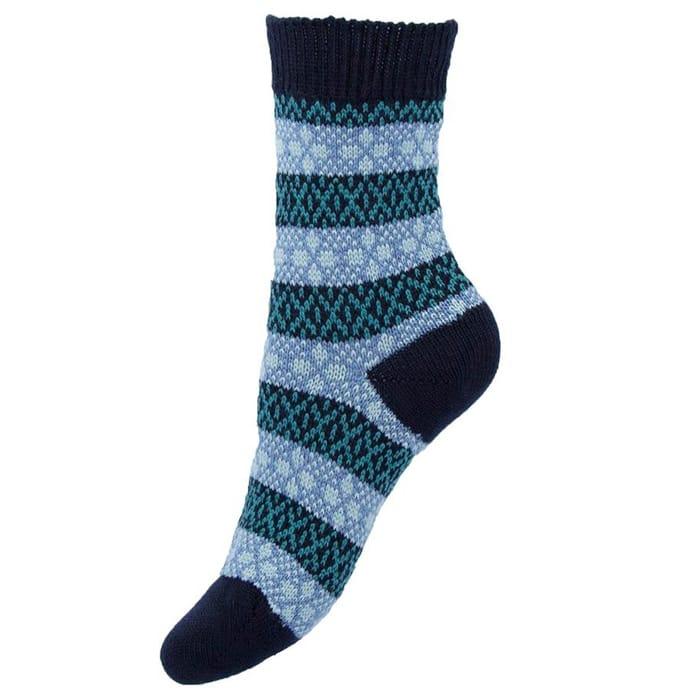 Pantherella Tara Anklet Fairisle Socks