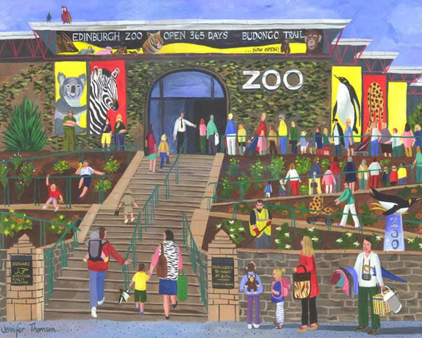 Edinburgh Zoo Queue by Jennifer Thomson.