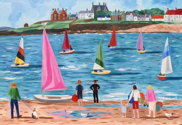 Sailing lesson, by Jennifer Thomson.
