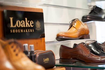 Loake handcrafted shoes.