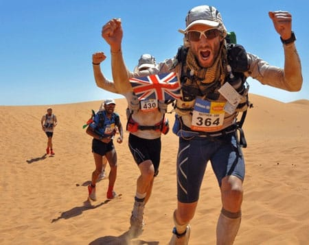 Competitors in the Marathon de Sables. Intimidated by these guys? Not a chance! Image source: Pinterest.