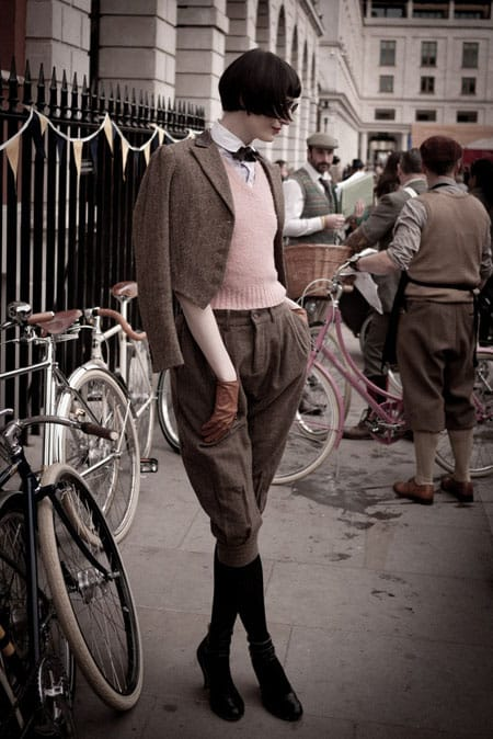 Erin O'Connor at the London Tweed Run