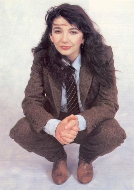 Kate Bush wearing tweed