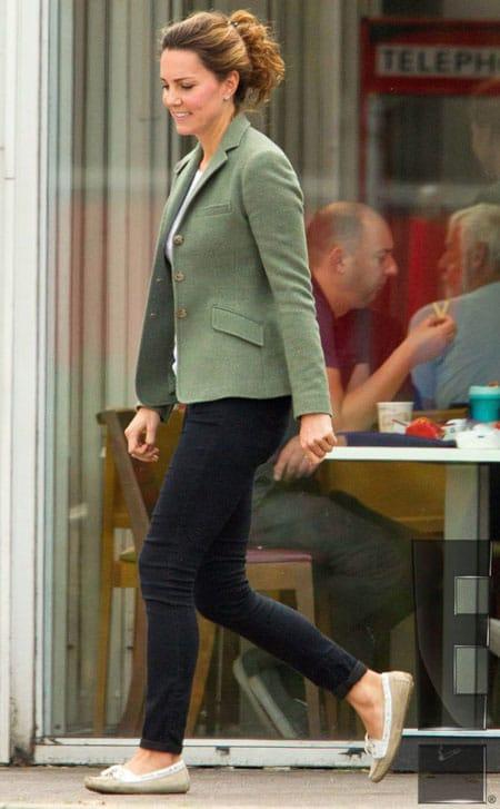 The Duchess of Cambridge wearing tweed