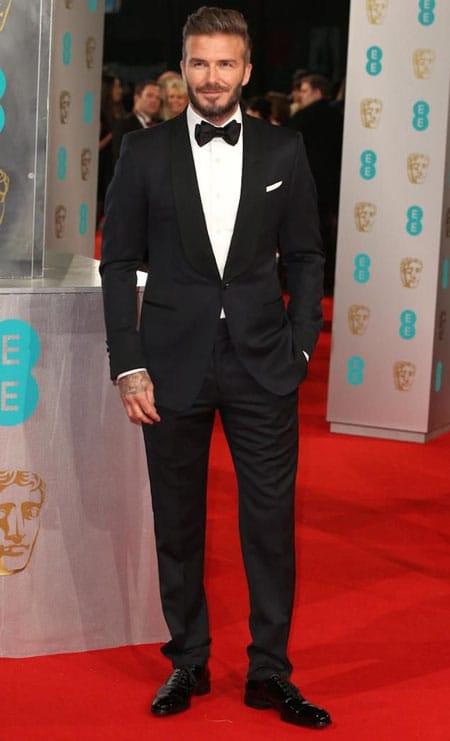 David Beckham Black Tie