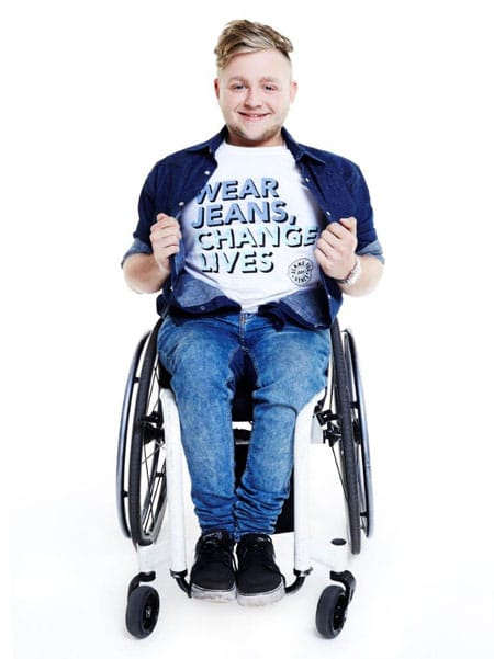 Jack Binstead supports Jeans For Genes Day.