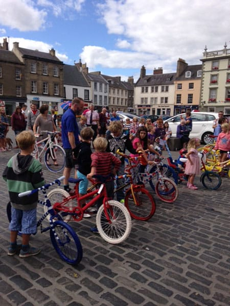 Visit Kelso organised lots of events for Tour, including a fantastic bike decorating competition.