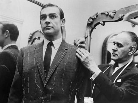 The suits Sean Connery wore as Bond, made by Mr Anthony Sinclair, inspired many men to go bespoke. Image source: Pinterest.