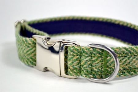 harris-tweed-green-dog-collar