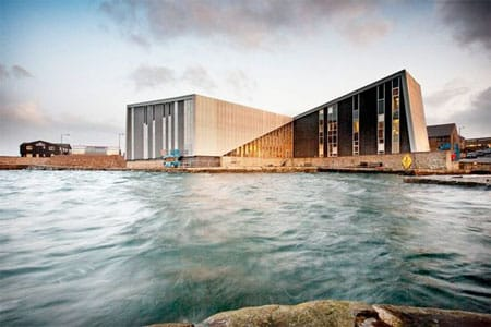 Mareel Cinema and Arts Centre, Shetland. Image source: Pinterest.