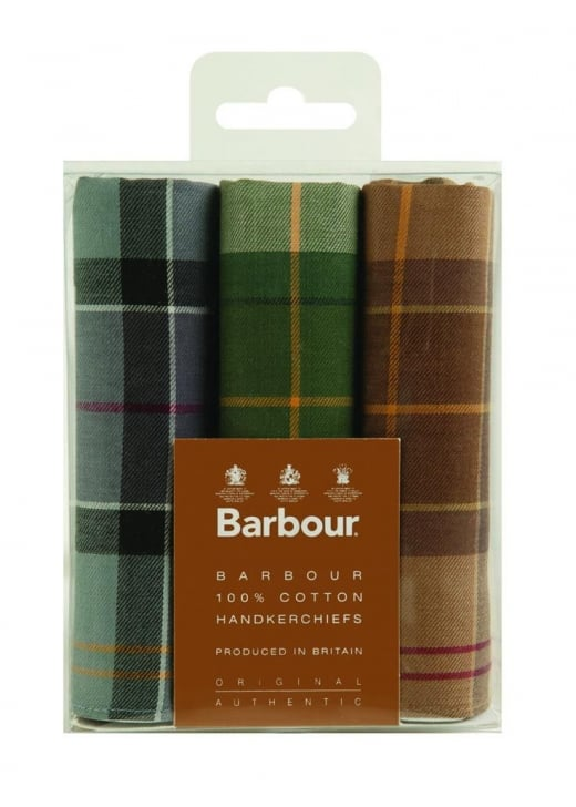 Barbour 3 Pack Handkerchiefs
