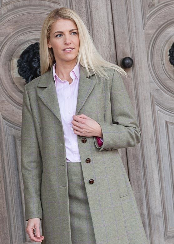 A Hume Ayr Tweed Coat  Large Image