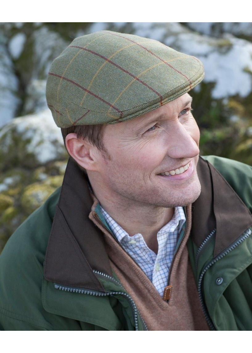 A Hume Roxburgh Mains Tweed Cap Large Image