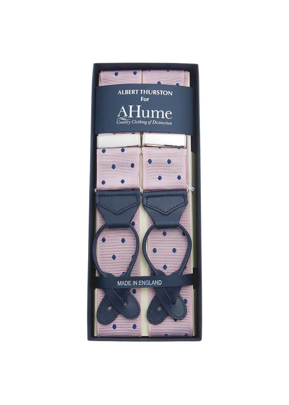 Albert Thurston Polka Dot Braces  Large Image