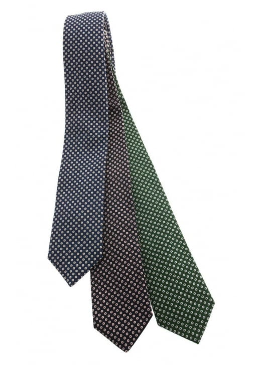 Altea Circle Dot Silk Tie
