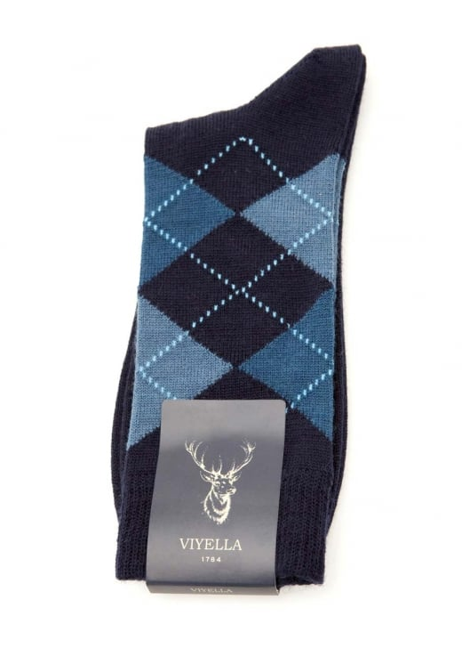 Viyella Argyle Wool Socks
