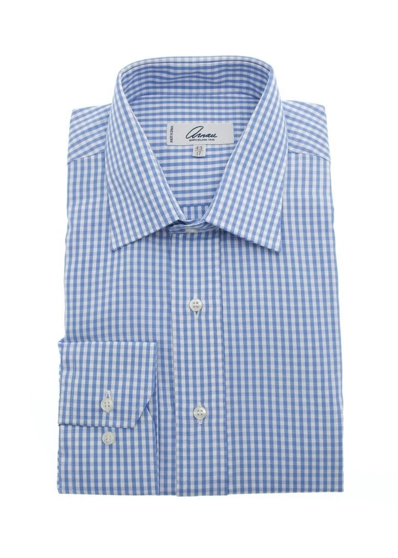 Arnau Gingham Checked Shirt Large Image