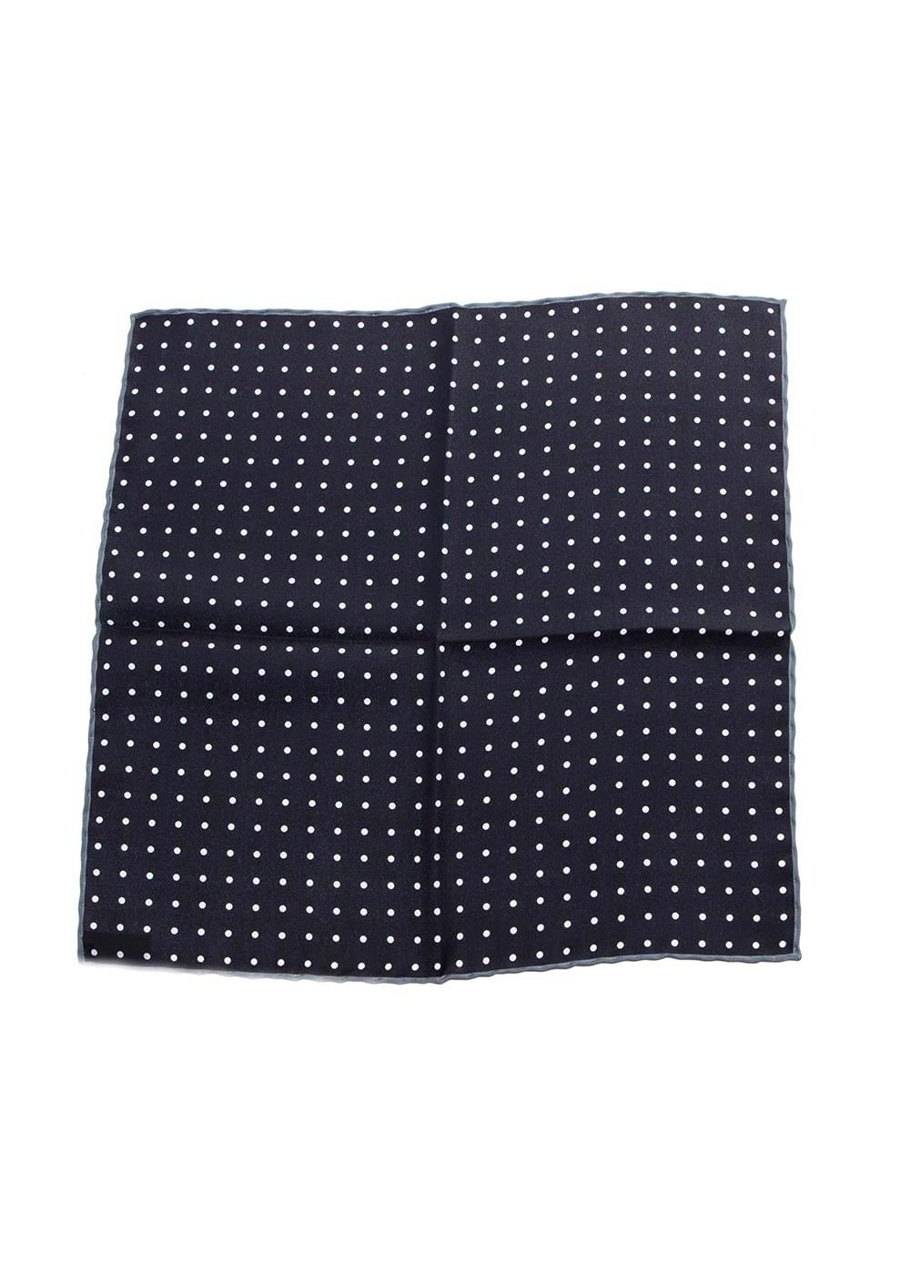 Ascot Silk Small Spots Handkerchief  Large Image